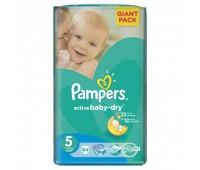4015400736370. PAMPERS Детские подгузники Active Baby-Dry Junior 5 (11-18 кг) Джайнт 64