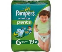 4015400255697. PAMPERS Детские подгузники Active Boy Extra Large 6 (16+ кг) Стандарт 19