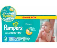 4015400737032. PAMPERS Детские подгузники Active Baby-Dry Midi 3 (4-9 кг) Джайнт Плюс Упаковка 108