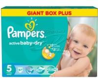 4015400737353. PAMPERS Детские подгузники Active Baby-Dry Junior 5 (11-18 кг) Малая Мега Упаковка 87