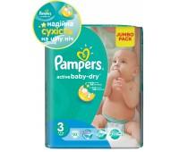 4015400265085. PAMPERS Детские подгузники Active Baby-Dry Midi 3 (4-9 кг) Джамбо упаковка 82
