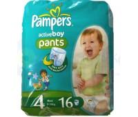 4015400610465. PAMPERS Детские подгузники-трусики Active Boy Maxi 4 (9-14 кг) Микро Упаковка 16