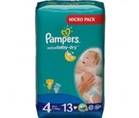 4015400647546. PAMPERS Детские подгузники Active Baby-Dry Maxy 4 (7-14 кг) Микро Упаковка 13