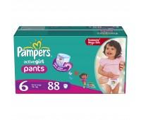 4015400617464. PAMPERS Детские подгузники-трус. Active Girl Extra Large 6 (16+ кг) МегаУпак 88
