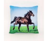 Fancy. Подушка Конь на траве. PON01