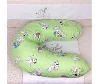 """201,02. Подушка для кормления Veres""""Soft green"""" (165*70). Верес"""