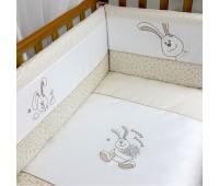 """157,01. Постельный комплект Veres""""Happy Bunny beige"""" (6 ед). Верес"""