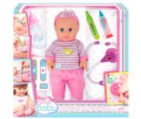 32004 Пупс Плей Беби, 32 см, с интерактивным набором врача, Play Baby