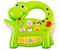 58090-2 Интерактивная анель Музыкальный динозавр (зеленая), BeBeLino