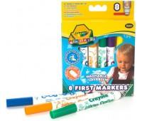 8324 Смываемые фломастеры для самых маленьких, 8 штук, Mini Kids, Crayola