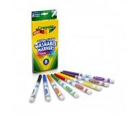58-8330 Смываемые фломастеры Супер чисто с тонким наконечником, 8 штук, Crayola