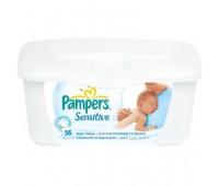 4015400439738. PAMPERS Детские влажные салфетки Sensetive 56 (контейнер)