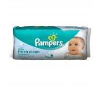 4015400439110. PAMPERS Детские влажные салфетки Baby Fresh Clean Сменный блок 64 Препак Короб