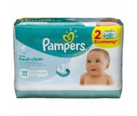 4015400439202. PAMPERS Детские влажные салфетки Baby Fresh Clean Сменный блок Duo 2х64 ПрепакКороб