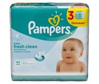 4015400439233. PAMPERS Детские влажные салфетки Baby Fresh Clean Сменный блок 3х64 ПрепакКороб