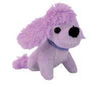 Мини-модница Пудель, сиреневая собачка, с повязкой, 10 см. Chi Chi Love