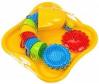 Ромашка, набор посуды с чайником и желтым подносом, 22 предмета. Тигрес
