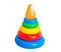 Пирамидка маленькая конус - развивающая игрушка, 7 элементов, Тигрес