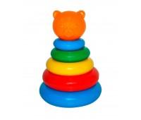 Пирамидка маленькая тигренок - развивающая игрушка, 7 элементов, Тигрес