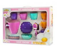 Ромашка, набор посуды с розовым чайником, 28 предметов в коробке. Тигрес