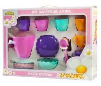 Ромашка, набор посуды с розовым чайником, 22 предмета в коробке. Тигрес