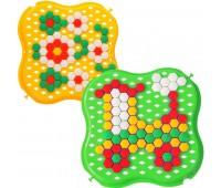 Развивающая игрушка Мозаика, желтая и зеленая, Тигрес