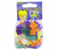 Конструктор 50 элементов (фиолетовый, оранжевый, бирюзовый). Тигрес