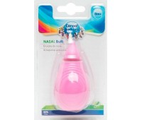 Аспиратор для носа с мягкой насадкой (розовый), Canpol babies