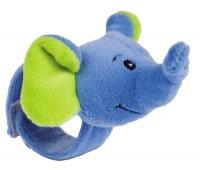 Погремушка на руку Друзья из джунглей Синий слоник, Canpol babies
