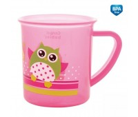 Чашка пластиковая Пираты с совой (200 мл) розовая, Canpol babies