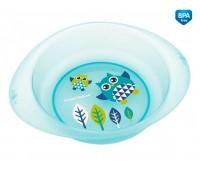 Детская тарелка пластиковая Сова, бирюзовая, Canpol babies