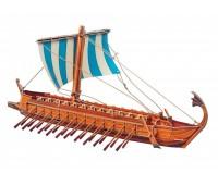 Греческая Бирема, сборная модель из картона, Умная бумага