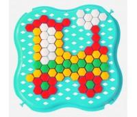 Развивающая игрушка Мозаика, бирюзовая и оранжевая, Тигрес