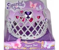 Набор из диадемы и сережек для девочки (сердце), Sparkle girlz, Funville