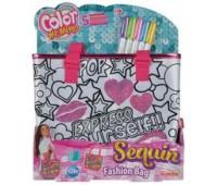Мини-сумочка с паетками Фешн, 5 маркеров, 28?24 см, Color Me Mine