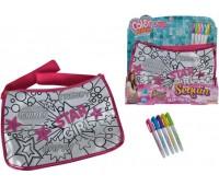 Мини-сумочка с паетками Хипстер, 5 маркеров, 33?23 см, Color Me Mine