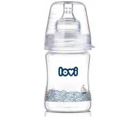 Бутылочка стеклянная Diamond Glass (150 мл) Marine, lovi