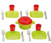 Игровой набор Chef-Cook с посудой и подносом, Ecoiffier