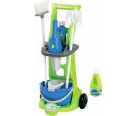 Тележка для уборки с пылесосом (8 аксессуаров), игровой набор, Ecoiffier
