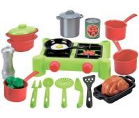 Плита и посуда (21 аксессуар), игровой набор, Ecoiffier