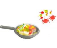 Набор посуды в сковородке (серый), Ecoiffier