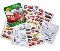 Книга-раскраска с наклейками Тачки-3 (32 страницы, 50 наклеек), Crayola