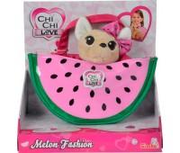Чихуахуа Фэшн (18 см) с сумочкой, фруктовая мода (арбуз), Chi Chi Love