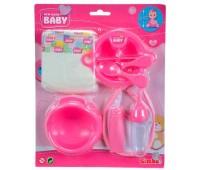 Набор по уходу за пупсом NBB, розовый, New Born Baby