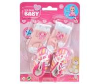 Аксессуары для пупса, полосатая обувь и носки, New Born Baby