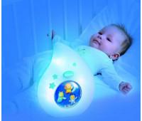 Ночник Cotoons Спокойной ночи (голубой цвет), Smoby Toys