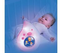 Ночник Cotoons Спокойной ночи (розовый цвет), Smoby Toys