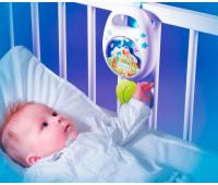 Музыкальная подвеска Cotoons Спокойной ночи, механическая (голубой цвет), Smoby Toys