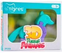3D пазлы Животные Лисичка, 8 элементов, Тигрес