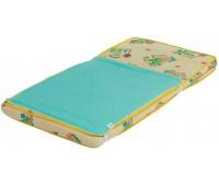 Наматрасник-пеленка непромокаемый 2 в 1 Classic, 60 ? 80 см, зеленый, Эко Пупс